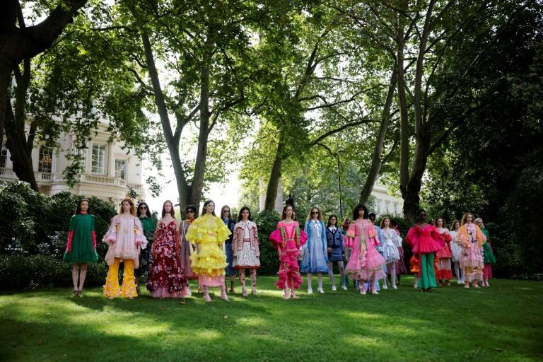 The British fashion industry employed some 890,000 people in 2019 and is project to grow by more than 25 percent by 2025 (AFP/Tolga Akmen)