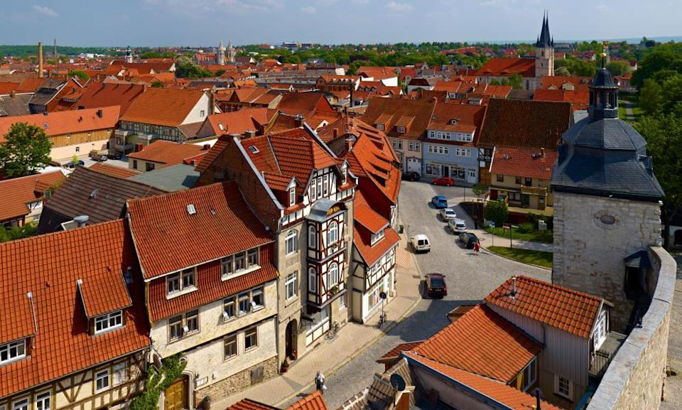 View over the old town of Muhlhausen