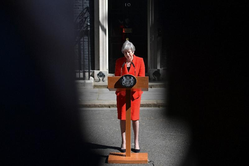 With Theresa May politically fading away, contenders to succeed her as Britain's prime minister start lining up while the risk of crashing out of the EU rises (AFP Photo/Daniel LEAL-OLIVAS)