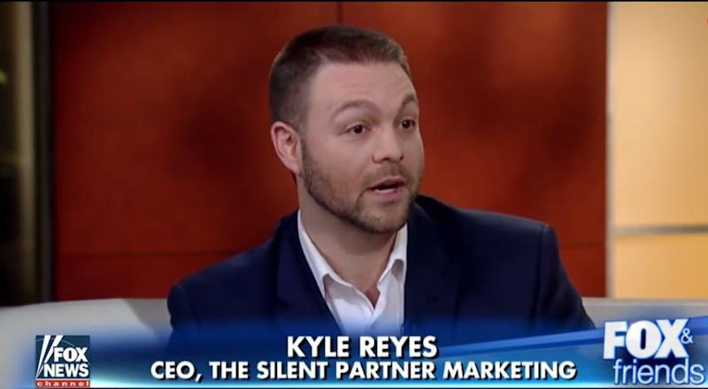 Swaggering jock Kyle Reyes (above) designed the highly provocative 'Snowflake Test' for so-called 'entitled millennials': Fox News