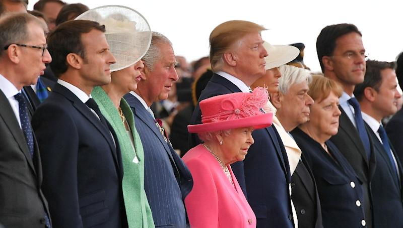 World leaders including US President Donald Trump, French President Emmanuel Macron and Britain's Queen Elizabeth attended the ceremony (AFP Photo/Mandel NGAN)
