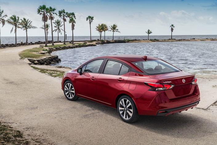 <p>Although Nissan has yet to officially confirm the sedan's new exterior and interior dimensions, it has said it is now longer, lower, and wider. The wheelbase has been stretched beyond the 102.4 inches that the 2019 model measures to provide more passenger space up front and maintain the Versa's already roomy back seat.</p>