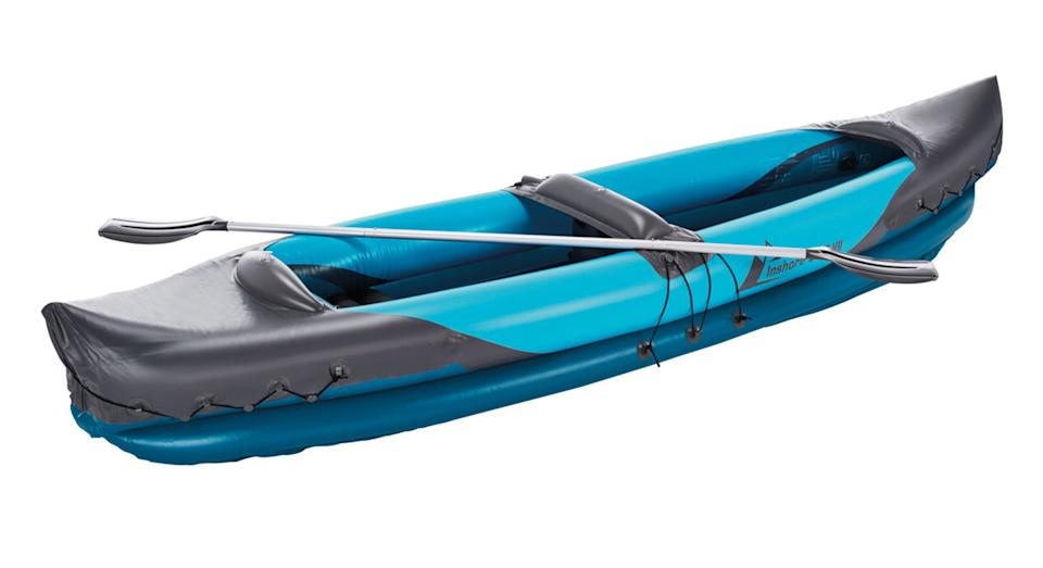 Inflatables - like this kayak - are all the rage again this summer. And they're getting more and more affordable [Photo: Lidl]