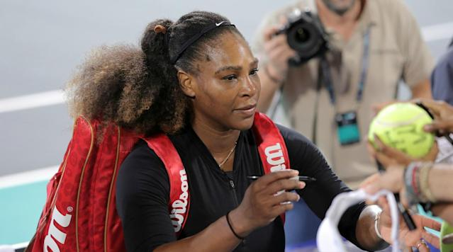 "<p>Defending champion Serena Williams has withdrawn from the Australian Open, saying she is not ready to return to tournament tennis.</p><p>Williams was pregnant with her first child when she won last year's tournament at Melbourne Park, the 23rd Grand Slam singles title of her career.</p><p>She <a href=""https://www.si.com/tennis/2017/09/13/serena-williams-baby-alexis-olympia-photo"" rel=""nofollow noopener"" target=""_blank"" data-ylk=""slk:gave birth to daughter"" class=""link rapid-noclick-resp"">gave birth to daughter</a>, Alexis, in September.</p><p>Williams played in an exhibition tournament last week in Abu Dhabi and indicated after her loss to French Open champion Jelena Ostapenko that she might not make it to Melbourne.</p><p>''After competing in Abu Dhabi I realized that although I am super close, I'm not where I personally want to be,'' Williams said in a statement released Friday by Australian Open organizers.</p><p>''My coach and team always said `only go to tournaments when you are prepared to go all the way'. I can compete - but I don't want to just compete, I want to do far better than that and to do so, I will need a little more time.</p><p>''With that being said, and even though I am disappointed about it, I've decided not to compete in the Australian Open this year.''</p><p>Williams, 36, is a seven-time champion of the Australian Open and needs one more Grand Slam title to tie the all-time record held by Margaret Court.</p><p>Her withdrawal comes less than 24 hours after fellow former world No.1 Andy Murray withdrew from the men's event with a chronic hip injury.</p><p>Several other big names, including top-ranked Rafael Nadal, six-time champion Novak Djokovic and 2014 winner Stan Wawrinka, also are dealing with injuries.</p><p>Williams last year beat older sister Venus in the final before revealing she played the tournament despite being more than two months' pregnant.</p><p>Australian Open tournament director Craig Tiley said Williams waited as long as she could before letting them know she wouldn't be able to compete.</p><p>''I've been in constant contact with Serena and her team and know this is why she has pushed it and pushed it until the 11th hour to make her final decision,'' Tiley said.</p><p>The Australian Open will begin Jan. 15. </p>"