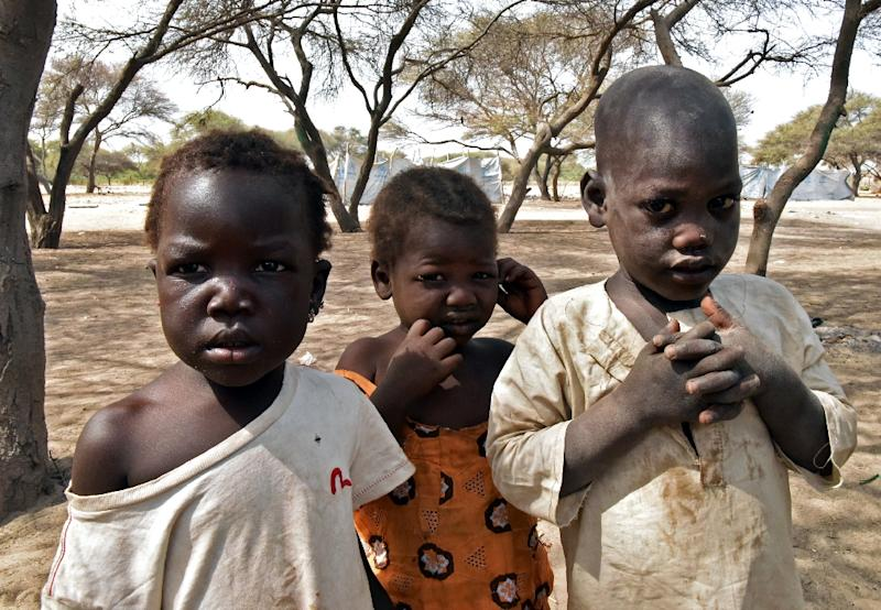 Children from the northeast Nigerian town of Baga are pictured in a United Nations' refugee agency (UNHCR) camp in N'Gouboua, Lake Chad region (AFP Photo/Sia Kambou)