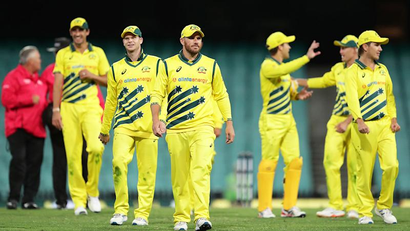 Seen here, Australia's ODI team during a 2020 match against New Zealand.