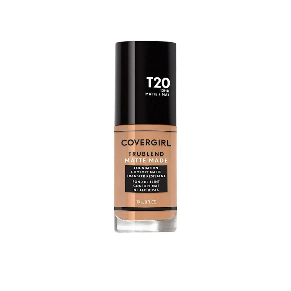 """I love this one because the 40 shades include a lot of medium-tone options (which can be hard to find, even in more diverse shade ranges), and it keeps my <a href=""""https://www.glamour.com/gallery/best-toners-face-skin-care?mbid=synd_yahoo_rss"""" rel=""""nofollow noopener"""" target=""""_blank"""" data-ylk=""""slk:combination skin"""" class=""""link rapid-noclick-resp"""">combination skin</a> from looking greasy throughout the day. —<em>Deanna Pai, contributor</em> $11, CoverGirl. <a href=""""https://shop-links.co/1734688901829409130"""" rel=""""nofollow noopener"""" target=""""_blank"""" data-ylk=""""slk:Get it now!"""" class=""""link rapid-noclick-resp"""">Get it now!</a>"""