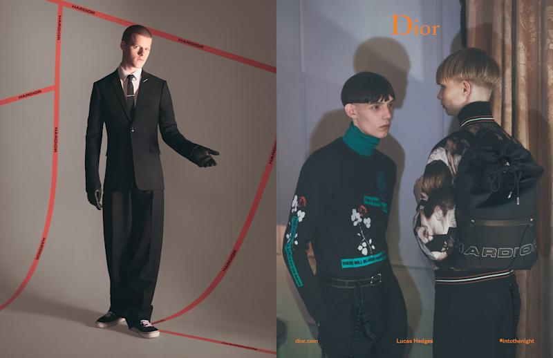 Lucas Hedges and Dave Gahan front Dior Homme campaign 72f3f132acd