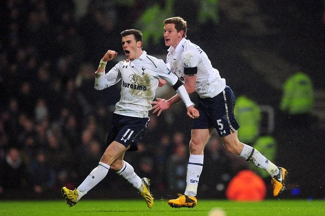 Bale, left, scored 21 times in 33 Premier League games in 2012-13 before leaving for Real Madrid (Adam Davy/PA)