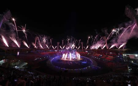 Gold Coast 2018 Commonwealth Games - Closing ceremony - Carrara Stadium - Gold Coast, Australia - April 15, 2018 - General view of the closing ceremony. REUTERS/Paul Childs