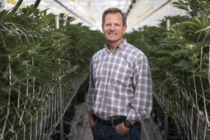Copperstate Farms co-founder and Managing Director Fife Symington at the company's 1.7-million-square-foot greenhouse in Snowflake, Arizona.
