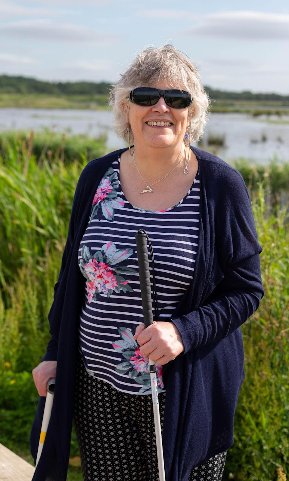 Christine Collins (Blind Veterans UK/PA)