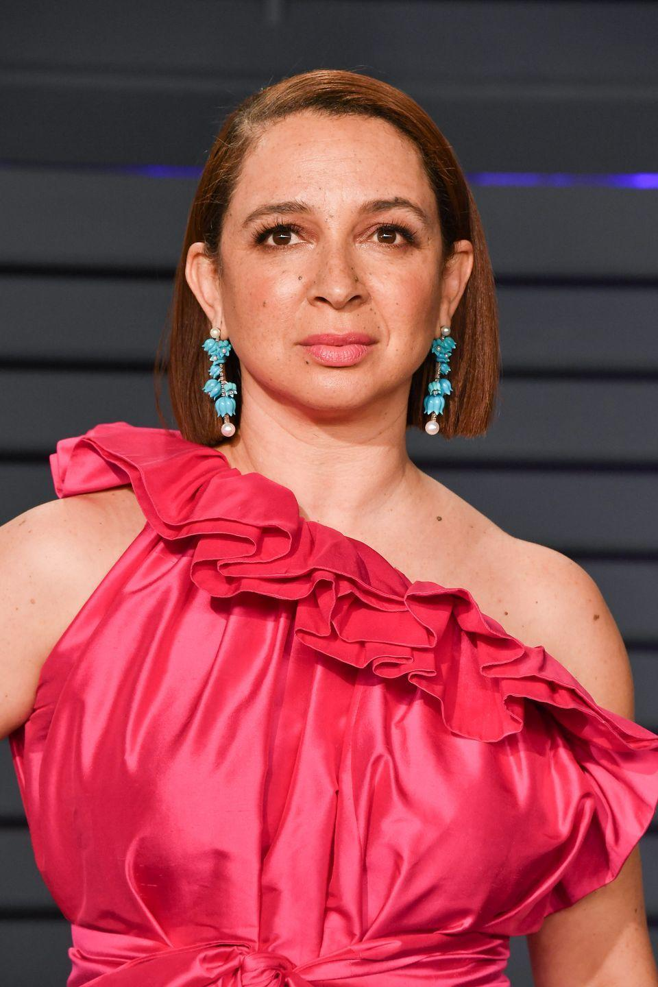 """<p>We can't imagine why, but Maya Rudolph's part in <em>Anchorman</em> didn't test well with screening audiences, so her role was <a href=""""https://www.digitalspy.com/movies/a536455/wake-up-ron-burgundy-the-anchorman-sequel-you-probably-havent-seen/"""" rel=""""nofollow noopener"""" target=""""_blank"""" data-ylk=""""slk:slashed post-production"""" class=""""link rapid-noclick-resp"""">slashed post-production</a>. Don't worry, Rudolph wasn't alone—her <em>Saturday Night Live </em>costar Amy Poehler was cut out too. </p>"""