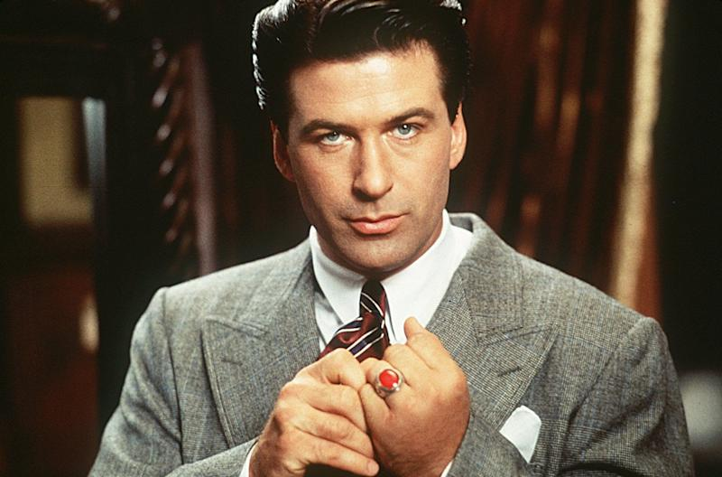 "Alec Baldwin stars as wealthy Lamont Cranston, who fights crime as a mysterious masked vigilante in ""The Shadow."""