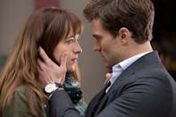 <p><strong>For Anastasia Steele:</strong> Jeans, a plain t-shirt, Converse sneakers, and your hair down with bangs. Bite your lip a lot.</p> <p><strong>For Christian Grey:</strong> For business Christian, go with a sleek business suit with a gray tie. Slick your hair back and look as intimidating as possible.</p>