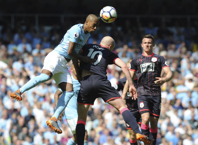 Manchester City couldn't find a way past Huddersfield Town at the Etihad. (AP)