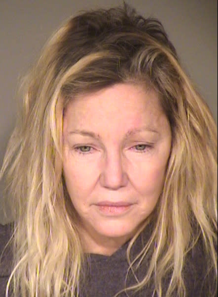 This booking photo released by the Ventura County Sheriff's Office shows actress Heather Locklear who was arrested on suspicion of fighting first responders after a report of a domestic dispute on Sunday, June 24, 2018. (Ventura County Sheriff's Office via AP)