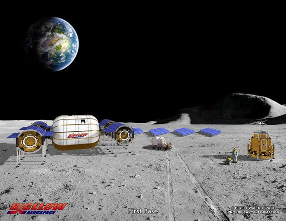 Representatives with Bigelow Aerospace plan to build bases on the moon.