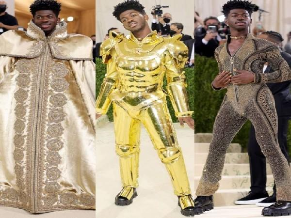 Lil Nas X pulled off three different looks at Met Gala 2021 (Image source: Instagram)