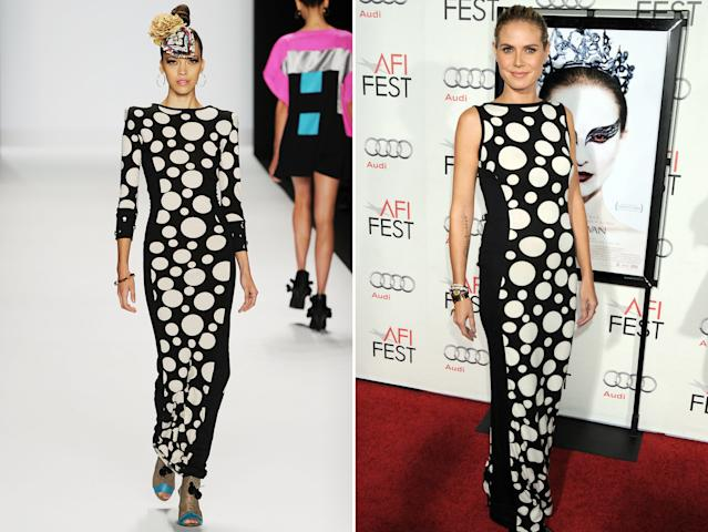 Heidi Klum S All Time Hottest Looks Designed By Project Runway Contestants