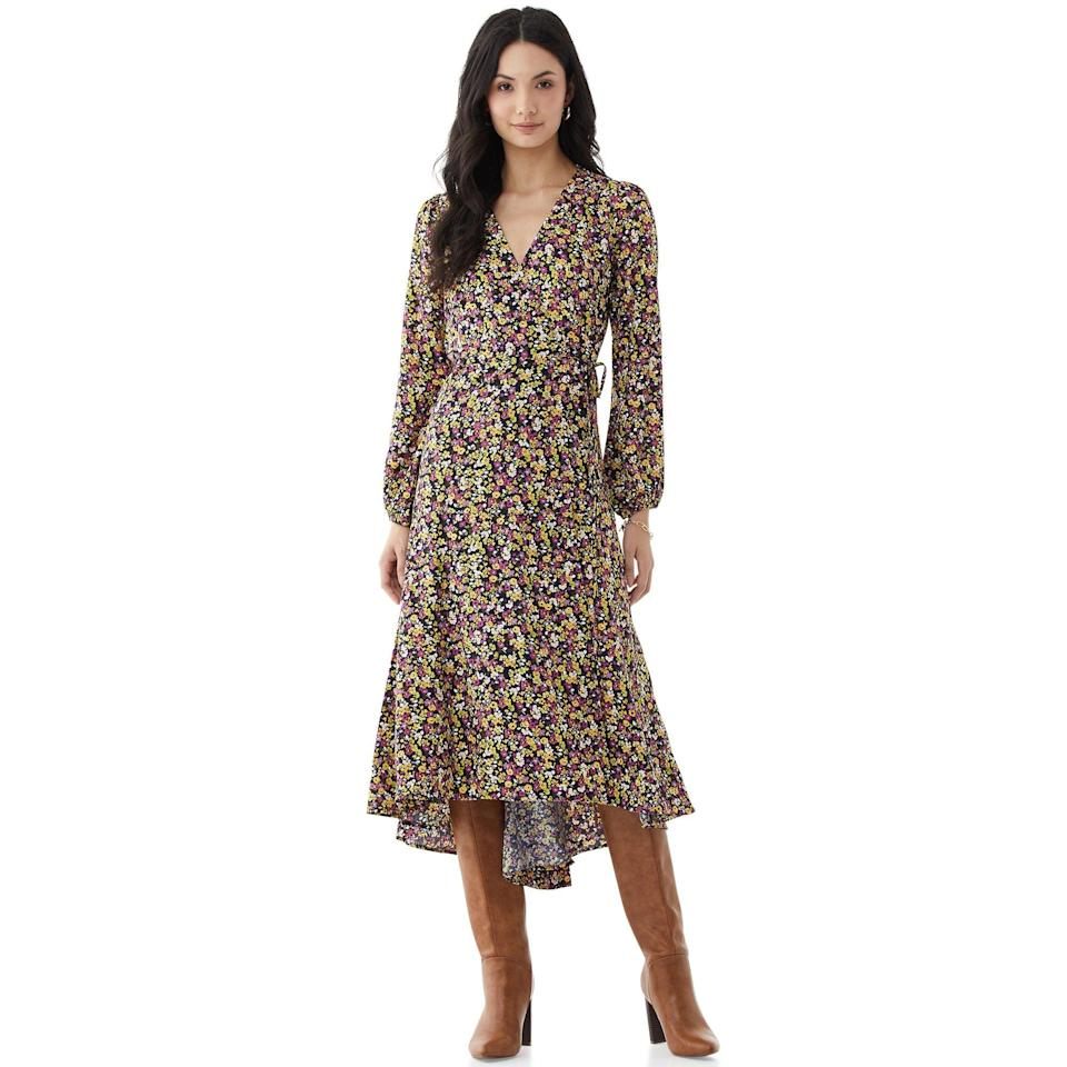 <p>Get spring ready with this gorgeous <span>Scoop Women's Floral Print Maxi Wrap Dress</span> ($24, originally $40).</p>