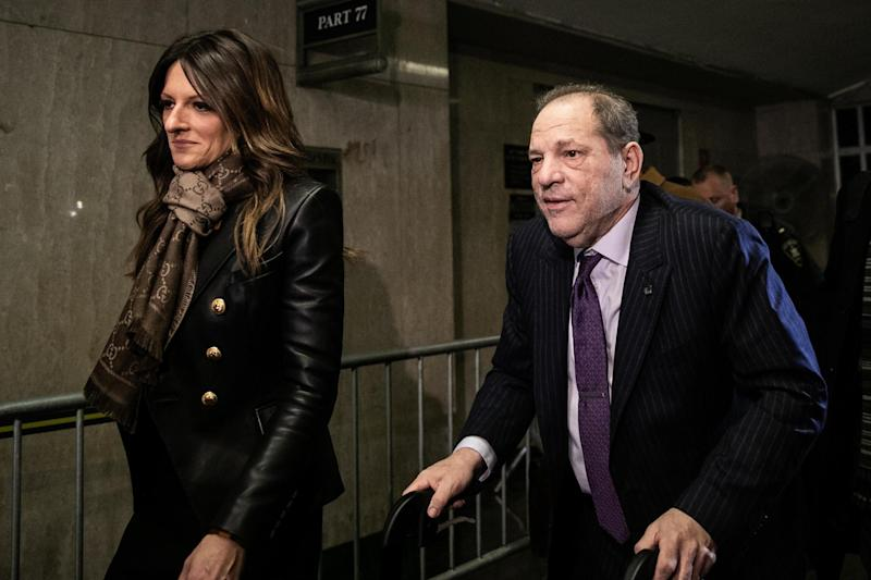 Harvey Weinstein leaves court with his attorney Donna Rotunno on 19 February 2020 in New York City: Jeenah Moon/Getty Images