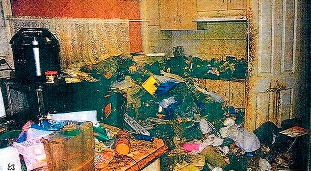 Rubbish piled high in the family's home in Melbourne's north-western suburbs. Photo: Supplied