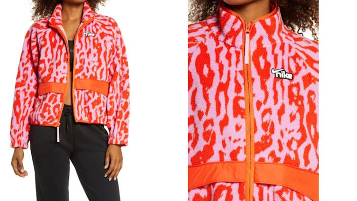 Nike Sportswear Animal Print Fleece Jacket- Nordstrom, $66 (originally $110)
