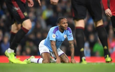 <span>It's been that sort of night so far for Sterling </span> <span>Credit: Getty Images </span>