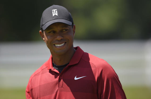 "<a class=""link rapid-noclick-resp"" href=""/pga/players/147/"" data-ylk=""slk:Tiger Woods"">Tiger Woods</a>' golf game isn't what is used to be, but he apparently hasn't lost a step when it comes to trash talk. (AP)"