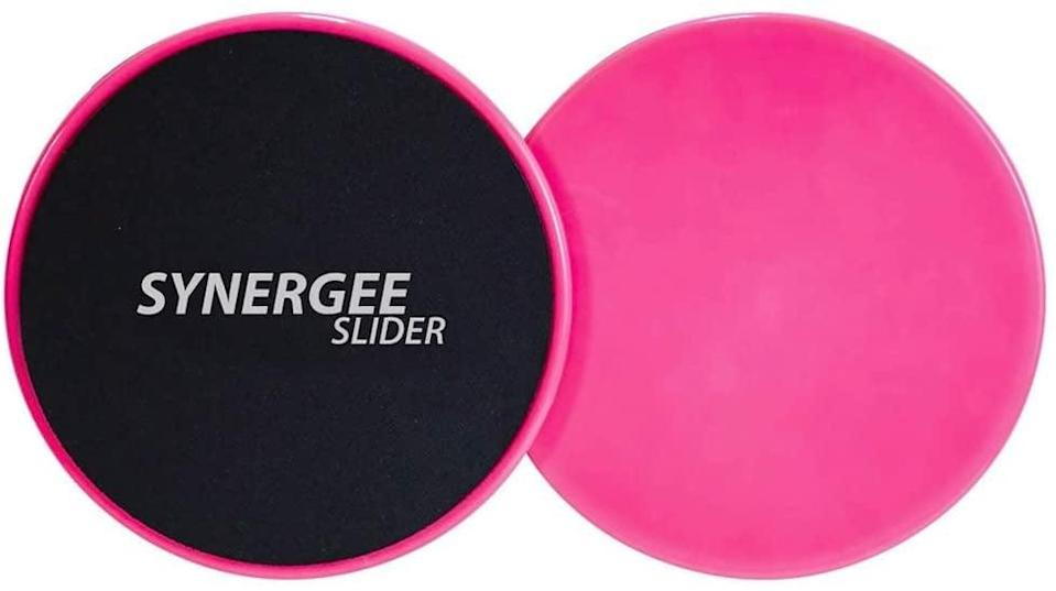 <p>These <span>Power Pink Core Sliders</span> ($9) will add a little extra burn to your lunge and plank series. You may hate them in the moment, but by the time your workout is over, you'll be happy you used them.</p>