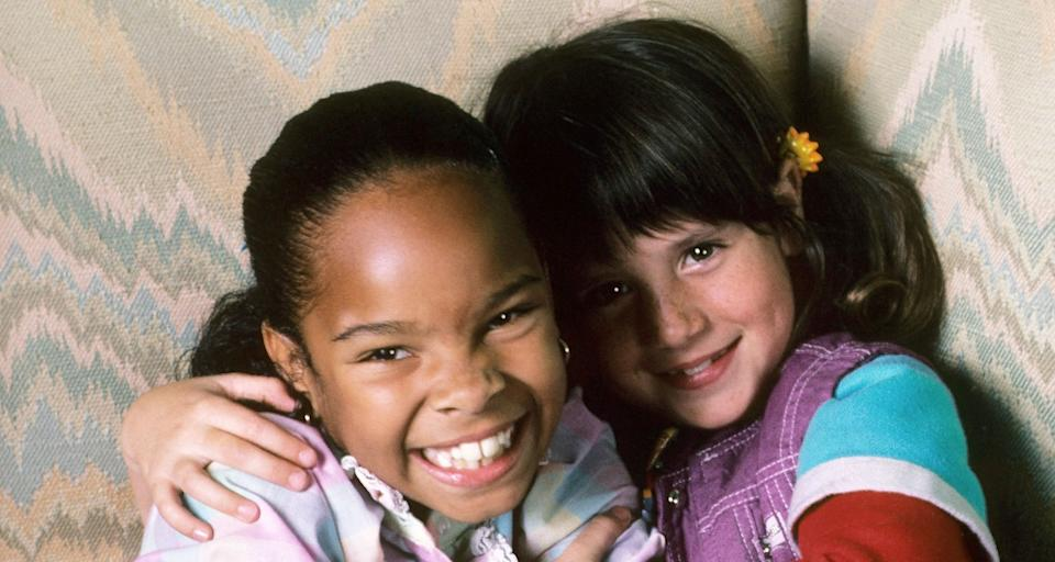 Cherie Johnson and Soleil Moon Frye in the first season of NBC's 'Punky Brewster' (Photo: NBC / Courtesy: Everett Collection)