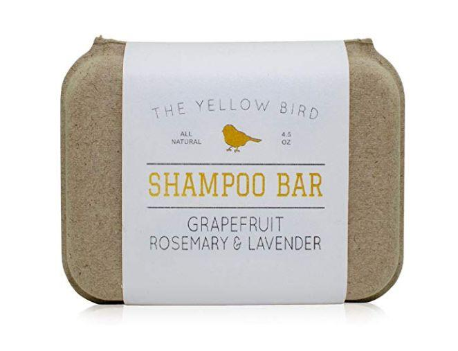 """For the traveler who prioritizes practicality, gift them a natural shampoo bar they can use literally anywhere, anytime. <strong><a href=""""https://www.amazon.com/Shampoo-Grapefruit-Rosemary-Lavender-Ingredients/dp/B073X7M383?th=1"""" target=""""_blank"""" rel=""""noopener noreferrer"""">Get this grapefruit, rosemary and lavender scent here</a></strong>."""
