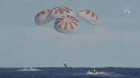 SpaceX's Crew Dragon Splashes Down Following Successful Test Flight