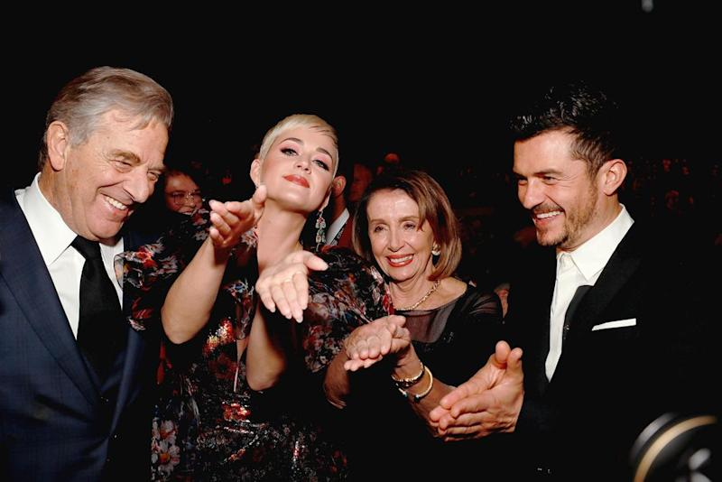 Paul Pelosi, Katy Perry, Nancy Pelosi and Orlando Bloom