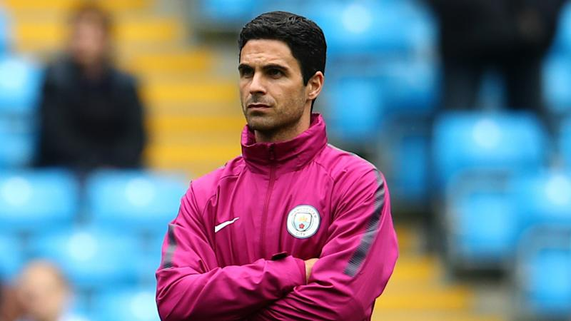 Arsenal chief pictured outside Arteta's house as Man City assistant emerges as frontrunner to succeed Emery