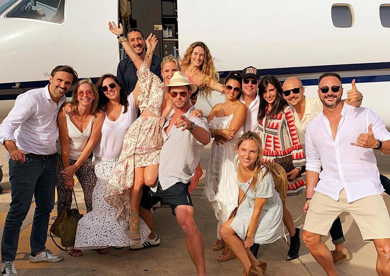 """Chris Hemsworthand his wife, actressElsa Pataky, celebrated her birthday early with a family vacation in Ibiza, Spain, alongside several family friends includingMatt and Luciana Damon.  Pataky, who turns 43 on July 18, posted <a href=""""https://www.instagram.com/p/Bz8BAopnPFv/"""">several photos</a> from her birthday getaway on Instagram, with a caption that says, """"Early birthday celebrations with my favourite people Celebrando el cumple con mi gente favorita."""""""