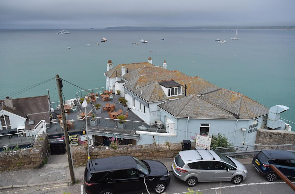 The Pedn Olva hotel in St Ives, Cornwall where a coronavirus outbreak has taken place and has completely closed, ahead of the G7 summit in Cornwall. Picture date: Thursday June 10, 2021.
