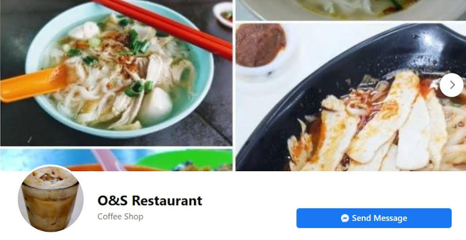 The O&S Restaurant on its Facebook page said that a person who works in one of its hawker stalls had tested positive on January 7. — Picture from Facebook/O&S Restaurant