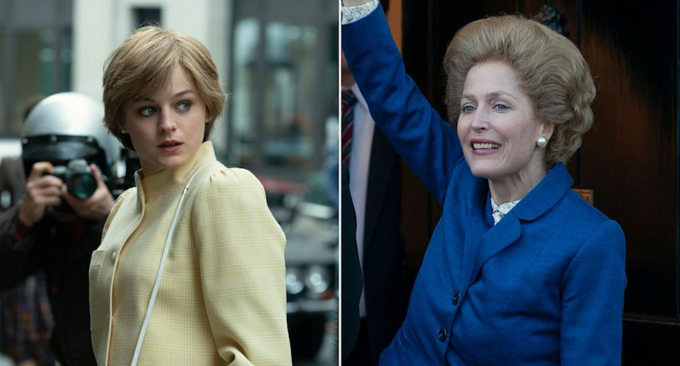 the crown s4 first look at diana and thatcher revealed the crown s4 first look at diana and