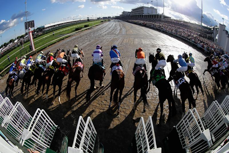 The Kentucky Derby will now be run in September due to concerns about the coronavirus. (Photo by Andy Lyons/Getty Images)