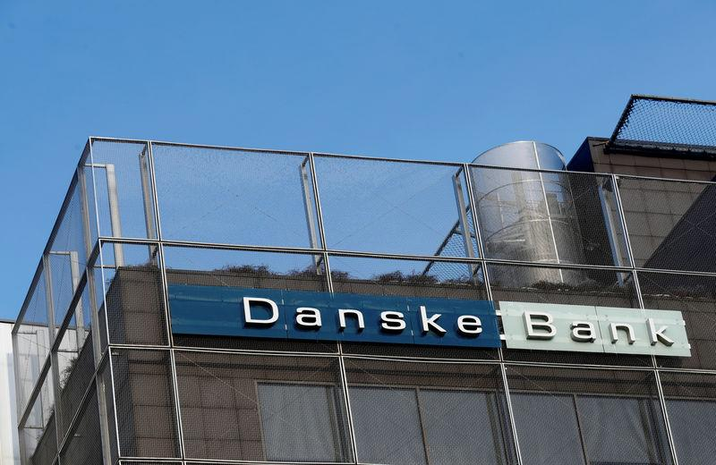 FILE PHOTO: Danske Bank sign is seen on the Estonian branch building in Tallinn