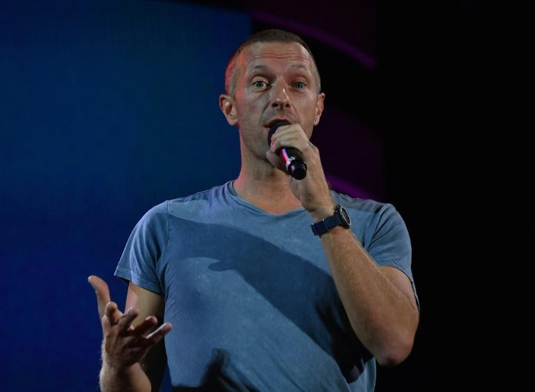 Chris Martin speaks at the 2019 Global Citizen Festival, which he is collaborated with for an online concert as the coronavirus pandemic has fans -- and artists -- stuck at home