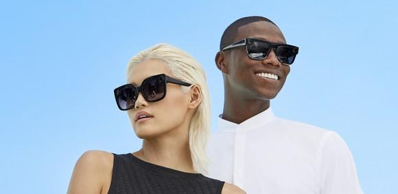Man and woman wearing the new Spectacles styles