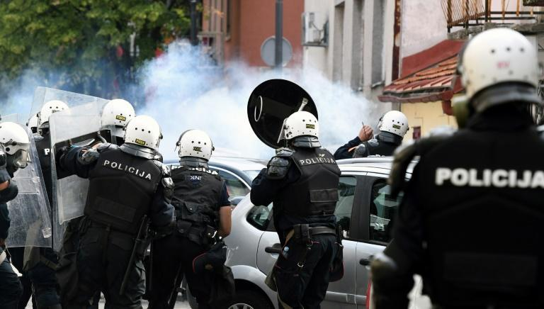 Police arrested 14 people during the clashes (AFP/SAVO PRELEVIC)