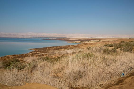 The Dead Sea has lost a third of its surface area and is shrinking by a metre every year (Bel Trew)