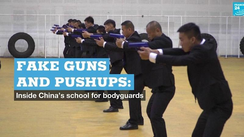 Fake guns and pushups: Inside China's school for bodyguards