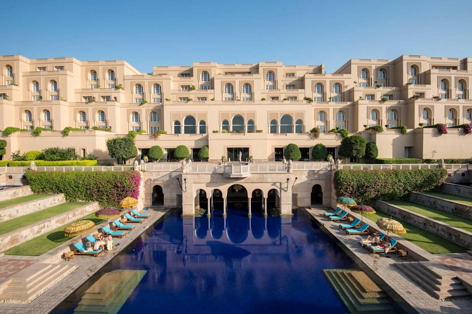 Exterior view of The Oberoi Amarvilas, voted one of the best hotels in the world
