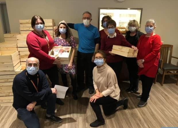 Volunteers at Maison Saint-Raphaël have been busy preparing meals for delivery and pickup on Valentine's Day as part of a $50,000 fundraiser for the home.