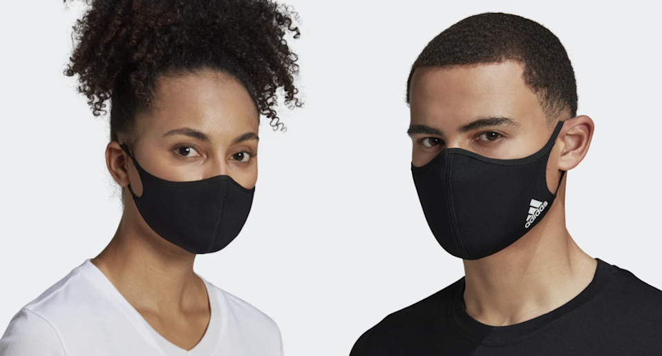 Adidas face masks are on sale now for 40% off.